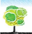 tree pencil color sketch vector image