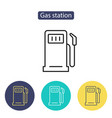 gas station icon petrol fuel pump sign vector image