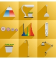 Set icon LED equipment phyto light for plants vector image