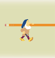 The fantastic gnome which bearsa pencil vector image