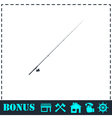 Fishing rod icon flat vector image