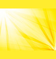 abstract rays yellow background vector image vector image
