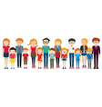 Adults and kids standing vector image vector image