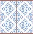 azujelo lisbon tiles seamless pattern vector image vector image