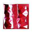 Barn Red Abstract Low Polygon Background vector image vector image