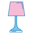 Bedroom lamp isolated icon