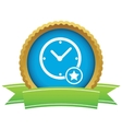 Best time certificate icon vector image vector image