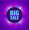 big sale concept fantasy violet banner vector image vector image
