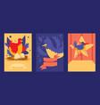 bird card design set of vector image vector image