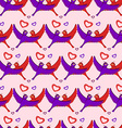 Birds hearts pattern vector image vector image