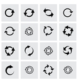 black refresh icon set vector image