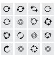 black refresh icon set vector image vector image