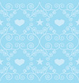 blue winter hearts folk seamless pattern vector image vector image