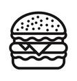 burger icon hamburgercheeseburger symbol vector image
