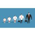 Business evolution development of simple worker in vector image vector image