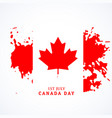 canadian flag in grunge style vector image