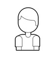 cartoon boy portrait male work employee vector image