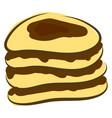chocolate pancake on white background vector image vector image