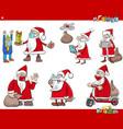 christmas holidays humorous cartoons set vector image vector image