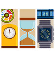 clock and watches flayer timer colorful vector image vector image