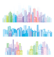 Colorful panorama of cities