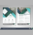 corporate business brochure vector image vector image
