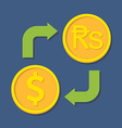 Currency exchange Dollar and Rupee vector image vector image