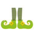 Cute elvish legs for Saint Patricks Day vector image vector image