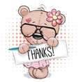 Cute Teddy Bear girl vector image