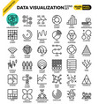 data visualization icon set vector image vector image