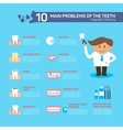 Dental problem health care elements infographic vector image vector image