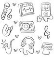 doodle of music vector image vector image
