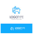 elephant animal blue logo line style vector image vector image