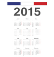 French 2015 year calendar vector image vector image