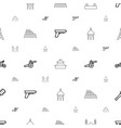 historic icons pattern seamless white background vector image vector image