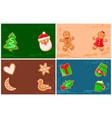 holly jolly gingerbread man santa claus cookie vector image vector image