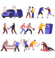 hooligans flat icons collection vector image vector image