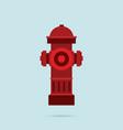hydrant icon flat style eps10 vector image vector image