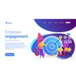 internal marketing concept landing page vector image vector image