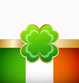 Irish flag vector image vector image