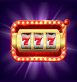 jackpot at slot machine realistic vector image vector image