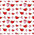 Lips and Hearts Seamless Pattern Love Background vector image vector image