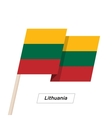 Lithuania Ribbon Waving Flag Isolated on White vector image vector image