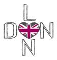 London City t shirt flag heart vector image