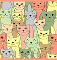 many cats seamless pattern vector image