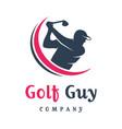 mens golf sports logo design vector image vector image