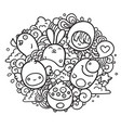 monster doodle vector image vector image