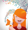 Music and Sound design vector image vector image