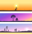 nature and couples vector image vector image