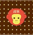 new year icon symbol 2016 monkey head on stars vector image